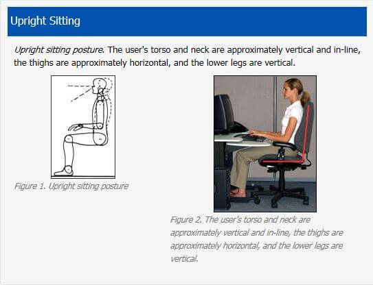 Proper sitting