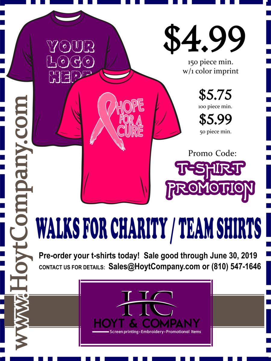 Hoyt & Company - Promo Flyer for Charity Walks 2019