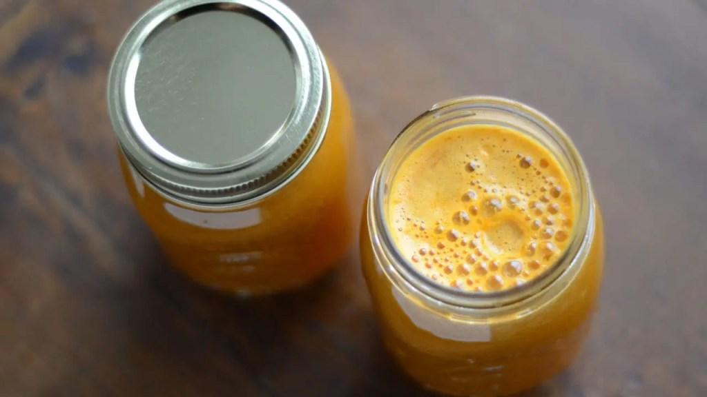 Imagen de la receta de jugo dulce y picante.