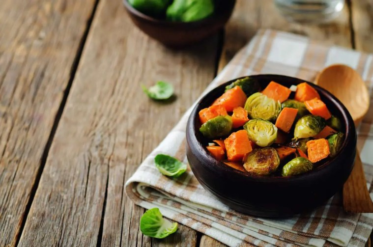Sheet Pan Chicken with Sweet Potatoes and Brussels Sprouts