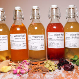 Water Kefir With Agave Syrup