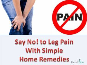 How to get rid of leg pain