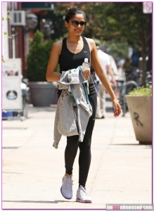 Freida Pinto Sports Nike Head To Toe