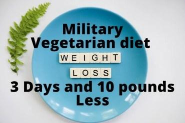 military vegetarian diet 3 days