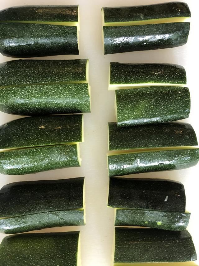 3 to 4 medium zucchini sliced in half
