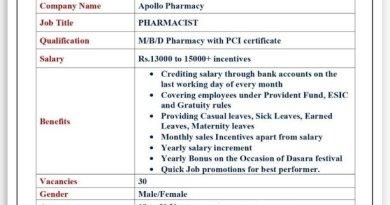 Apollo Pharmacy  Hiring Freshers And Experienced Pharmacists M Pharm BPharm DPharm