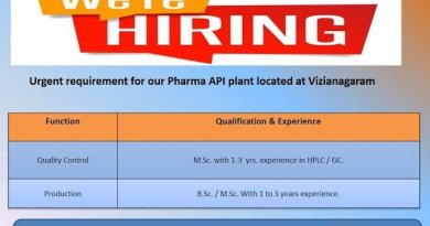 AUROBINDO PHARMA LTD Urgent Requirement for Quality Control Production Departments Apply Now
