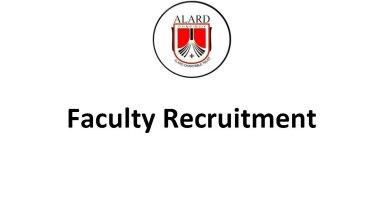 Alard College of Pharmacy Faculty Recruitment