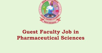 Central University of Haryana Walk in Interview for Guest Faculty