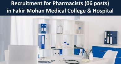 Fakir Mohan Medical College and Hospital Recruitment for Pharmacists