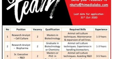 HiMedia Laboratories Pvt Ltd Urgent Hiring Freshers and Experienced for R and D QA RA Biopharma Cell Culture Departments