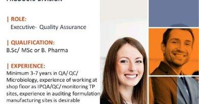 Piramal Healthcare Urgent Hiring BSc MSc BPharm Candidates QA Department