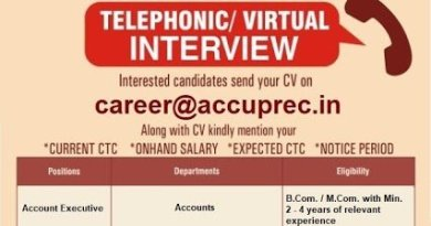Accuprec Research Labs Pvt Ltd Telephonic Virtual Interviews for Accounts Information Technology Departments Apply Now