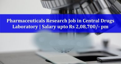 Central Drugs Laboratory Salary upto Rs 208700 pm Career in pharmaceutical research
