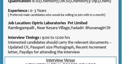 Optrix Laboratories Pvt Ltd WalkIn Interviews for Freshers and Experienced Production on 3rd Dec 2020
