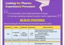 Pulse Pharmaceuticals Ltd Urgent Openings for CQA QC Departments Apply Now