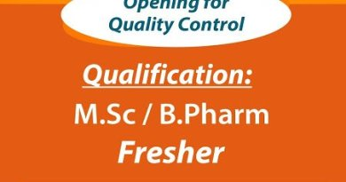 Sunrise International Labs Ltd Urgent Openings for Freshers and Experienced in QC Packing Compression Operator Apply Now