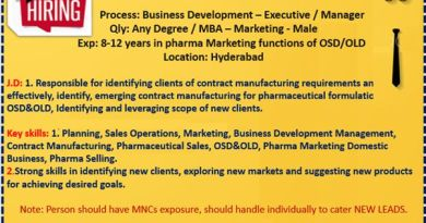 Vital pharma urgent Openings in bde bdm Marketing department Apply Now