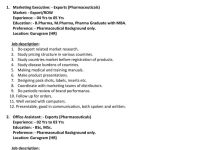 Windlas Biotech urgent requirement B pharm m pharm MSc BSc