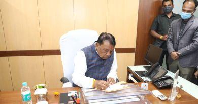 खाद्य मंत्री श्री सिंह ने वेयर हाऊसिंग कार्पोरेशन के चेयरमेन का किया पदभार ग्रहण