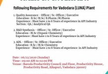 Amoli Organics Pvt Ltd WalkIn Interviews for Quality Assurance R and D Synthesis ADL Departments on 6th Dec 2020