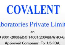 Covalent Laboratories Walkin 10th to 18th Dec 2020 for Chemist QC