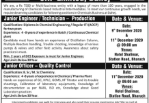 SRF LIMITED WalkIn Interviews for Production Quality Control on 9th and 11th Dec 2020