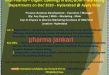 VITAL pharma hiring 2020