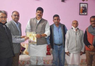श्रीराम मंदिर निर्माण के लिए परिवहन मंत्री श्री राजपूत ने 2 लाख 11 हजार की राशि भेंट की