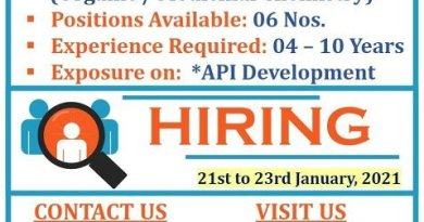API Pharma Tech Pvt Ltd WalkIn Interviews for Chemical Research and Development on 21st to 23rd Jan 2021