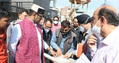 मंत्री श्री सारंग ने किया करोंद आरओबी का निरीक्षण