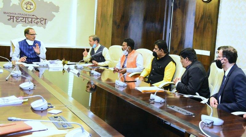 उद्योगों की स्थापना के लिये मुख्यमंत्री श्री चौहान से उद्योगपतियों ने की भेंट