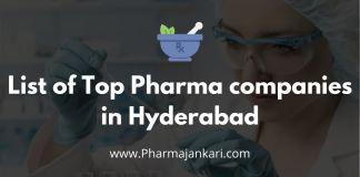 list of top Pharma companies in Hyderabad