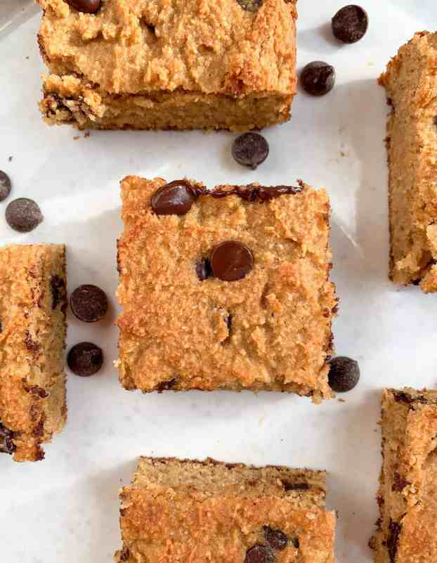 healthy paleo cookie dough cake bars