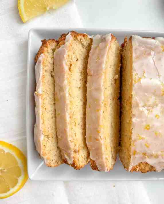 Gluten-free and low-fat healthy lemon pound cake - recipe by Healthful Blondie