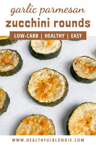 Healthy Garlic Parmesan Zucchini Bites - recipe by Healthful Blondie