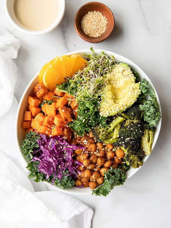 Best vegan buddha bowl with sesame seeds