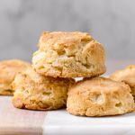 healthy homemade fluffy almond milk biscuits