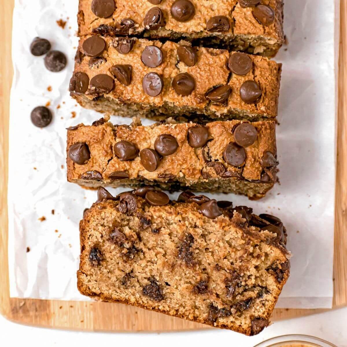 keto healthy almond flour peanut butter bread