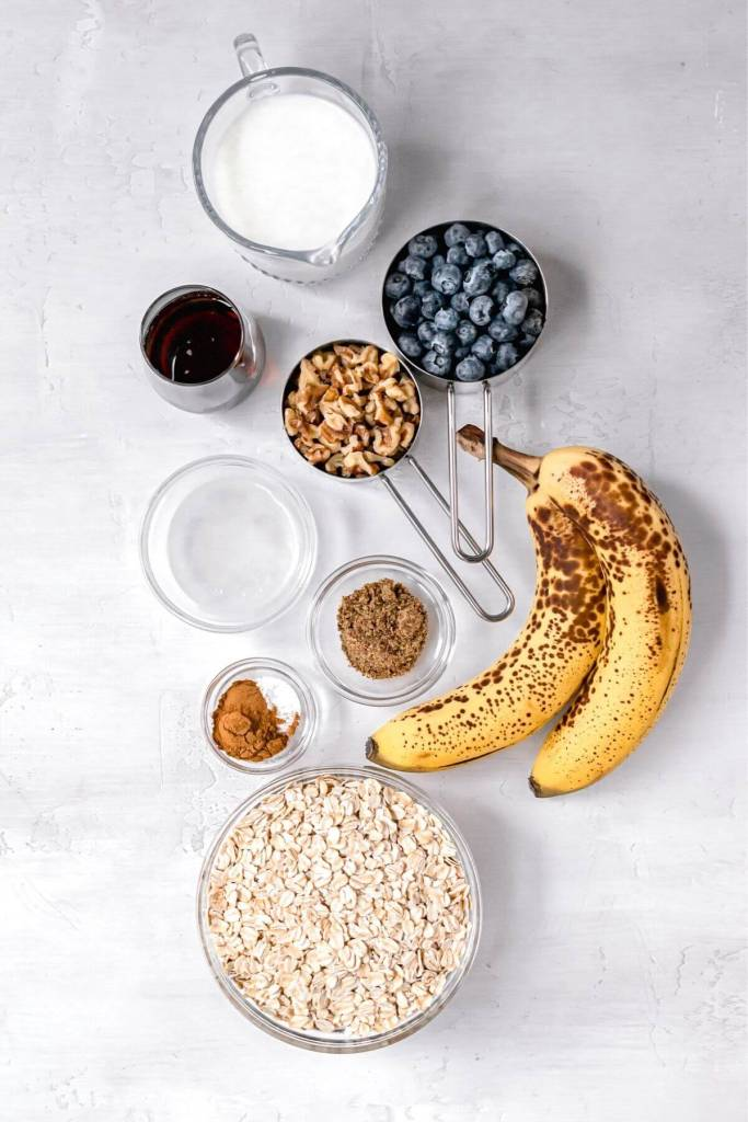ingredients in vegan baked oatmeal