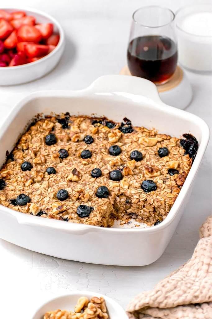 moist texture of vegan baked oats