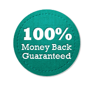 Money Back Guarantee 100% - Circle Badge Turquoise