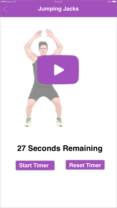 Jumping jacks with tutorial