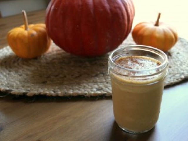 Pumpkin Smoothie with Pumpkin Pie Spices and Real Pumpkin