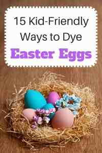 Are you looking for some new ideas for dyeing Easter eggs? Here's a round-up of 15 kid-friendly ways to dye eggs. I particularly like #12!