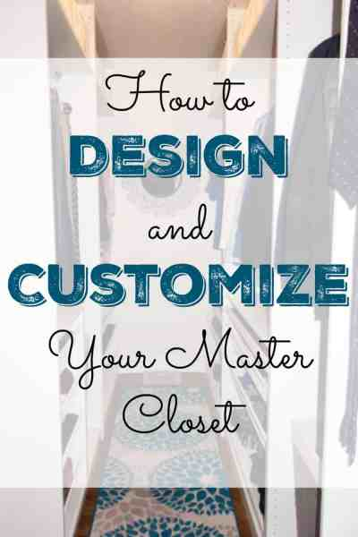 Are you wanting to renovate your closet, but you don't know where to start? Here is a simple, step by step process to help you design and customize your master closet.