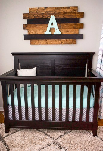 DIY Rustic Wood Nursery Decor