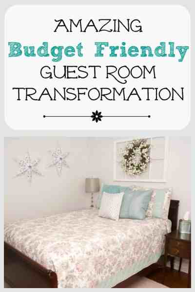 Amazing Budget Friendly Guest Room Transformation
