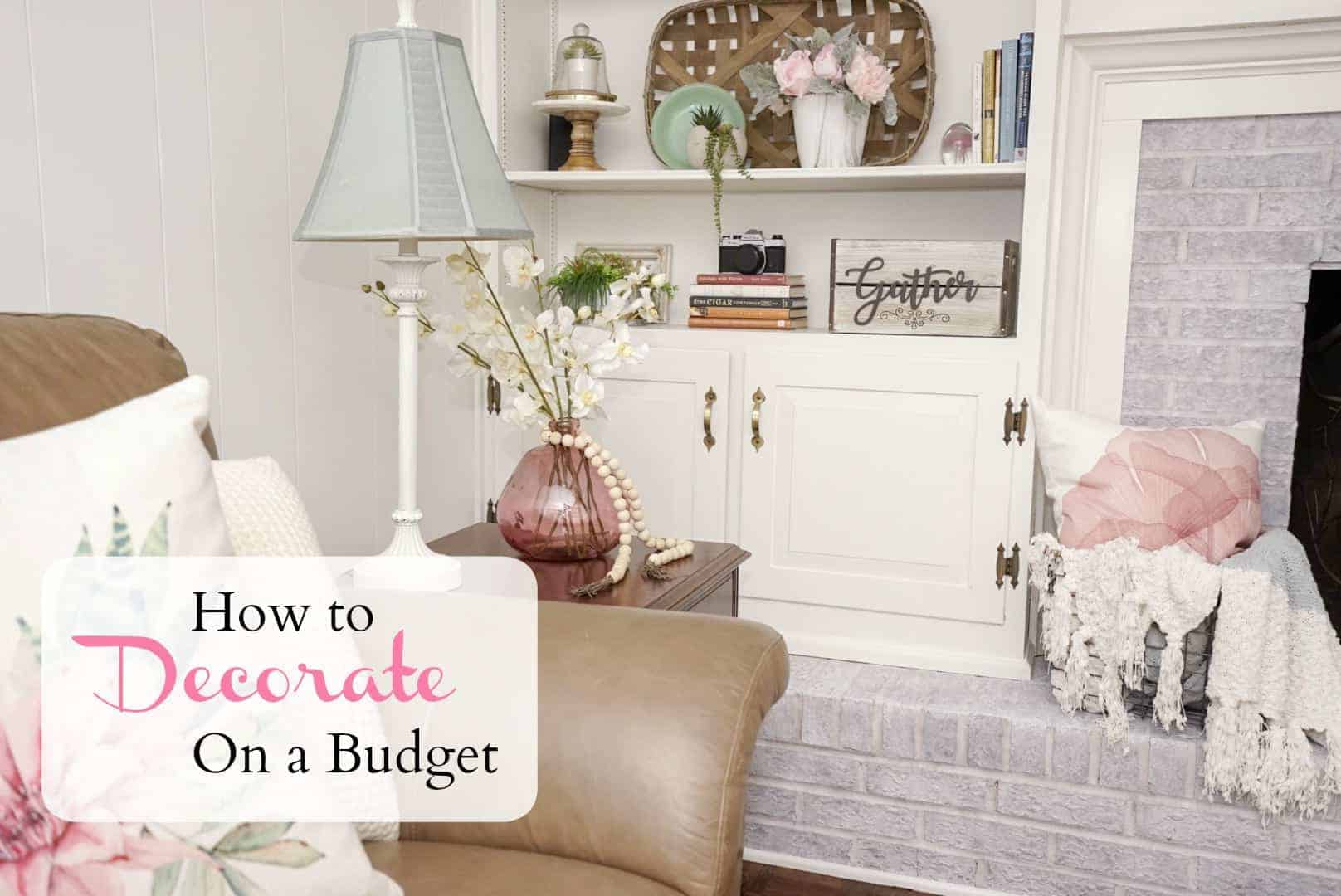 I love decorating and making a space my own, and I love making it happen on a budget. So, here are my top ten tips for decorating on a budget.