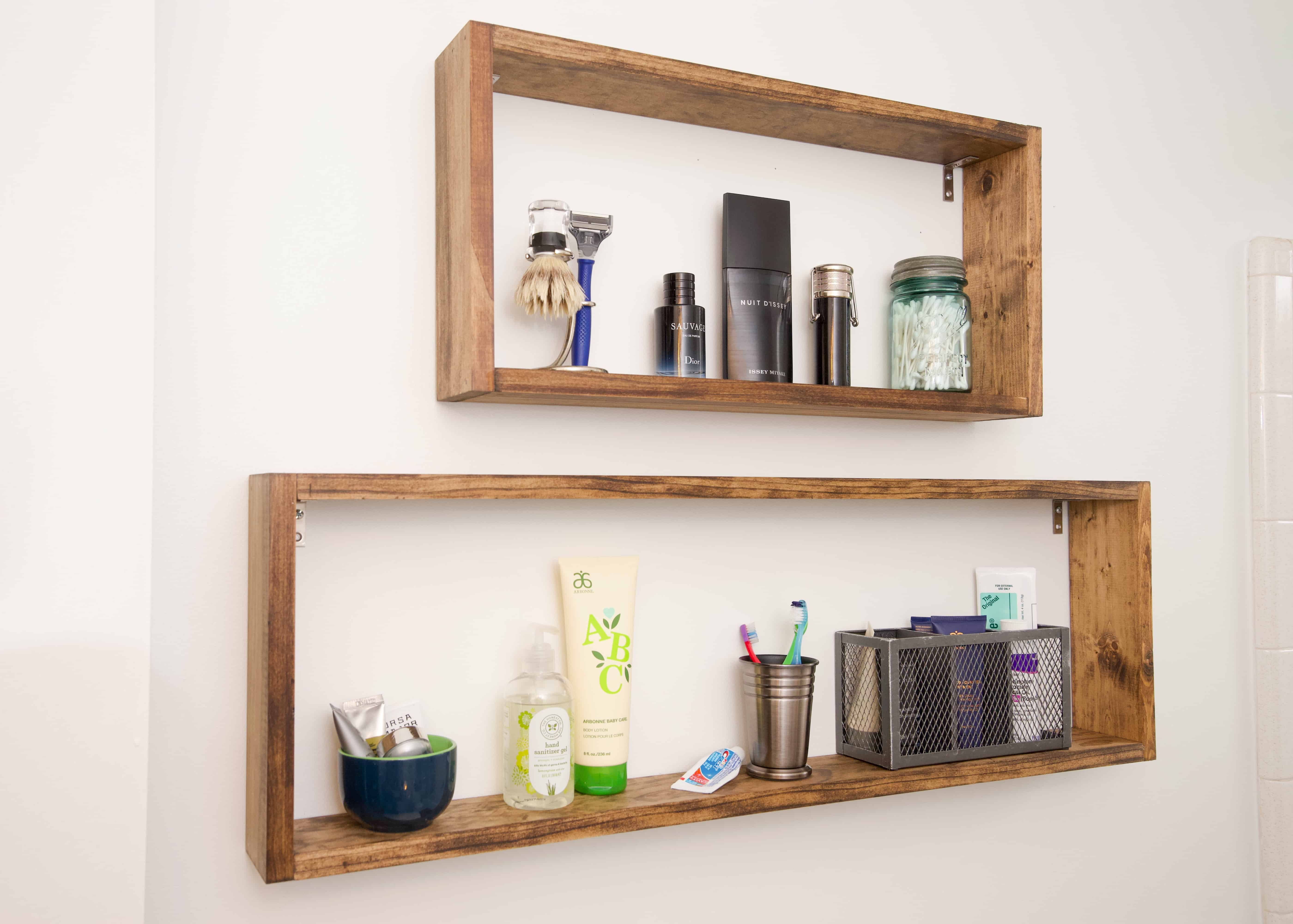 Box shelves are super stylish and so versatile. Here is a step-by-step tutorial for these super simple DIY box shelves. They are incredibly easy to put together!